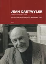 Jean Daetwyler - Liste des œuvres conservées à la Médiatèque Valais